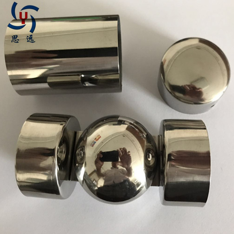 Direct Selling Siyuan Polymer Plug Stainless Steel Stairs Armrest Accessories Wooden Handrail Straight Connector Connection Armr