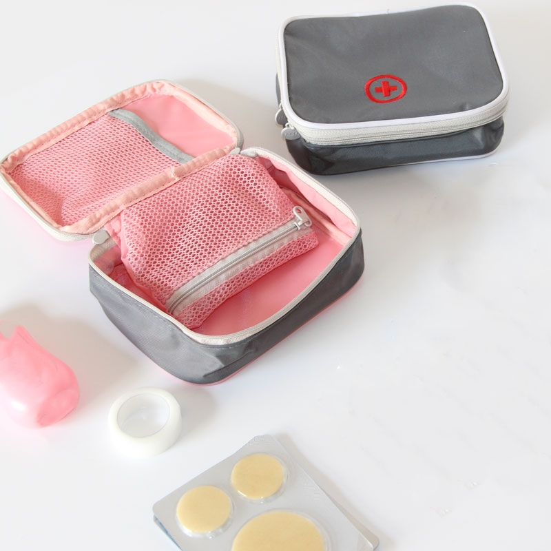 13*10*4cm Cute Mini Portable Medicine Bag First Aid Kit Medical Emergency Kits Small Organizer