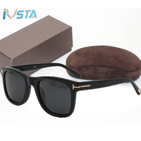 IVSTA 0336 TF0714 TOM Top Quality with logo Handmade Acetate Sunglasses Men Square Glasses Women Luxury Brand Designer with Box