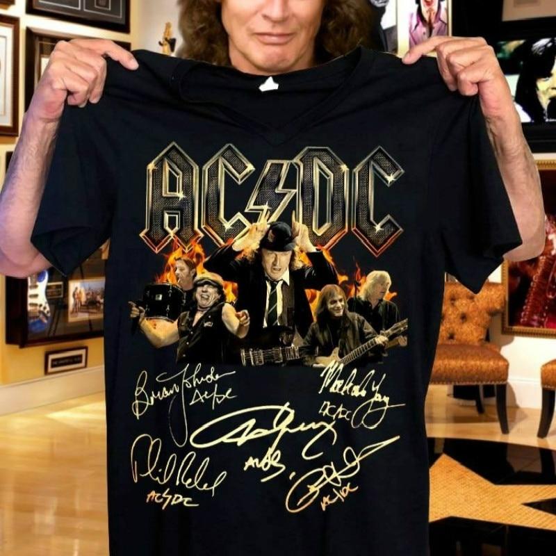 Men's Black T-shirt AC/DC HELLS BELLS Print 3d Printing Acdc T Shirts For Men Summer Brand Clothing Power Heave Metal Rock