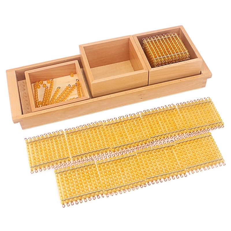 Image 2 - モンテッソーリ数学教育玩具ゴールドビーズ材料シンボルトレイ子供 5 年教育玩具学生学習算術数学のおもちゃ   -