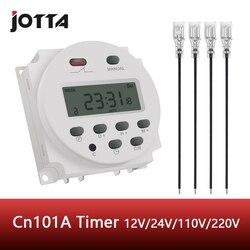 CN101A wyłącznik czasowy LCD 12V 24V 110V 220V przekaźnik czasowy lampa uliczna billboard zasilacz timer bez wodoodporne pudełko