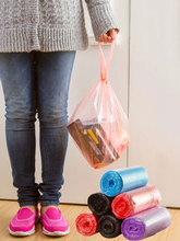 Bolsas de basura grandes vanzlife, bolsas de basura portátiles para el hogar, tipo camiseta, bolsas de basura para cocina, color grueso, pequeñas bolsas de plástico, dispensador de fábrica