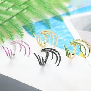 Image 3 - GODKI 2019 Charm Trendy Angel Wing Statement Stacks Rings for Women Cubic Zircon Finger Rings Beads Ring Boho Beach Jewelry