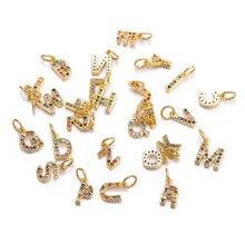 10pcs 24x18mm Letter Friend Charms Jewelry Necklace Making Pendants Accessories LJ