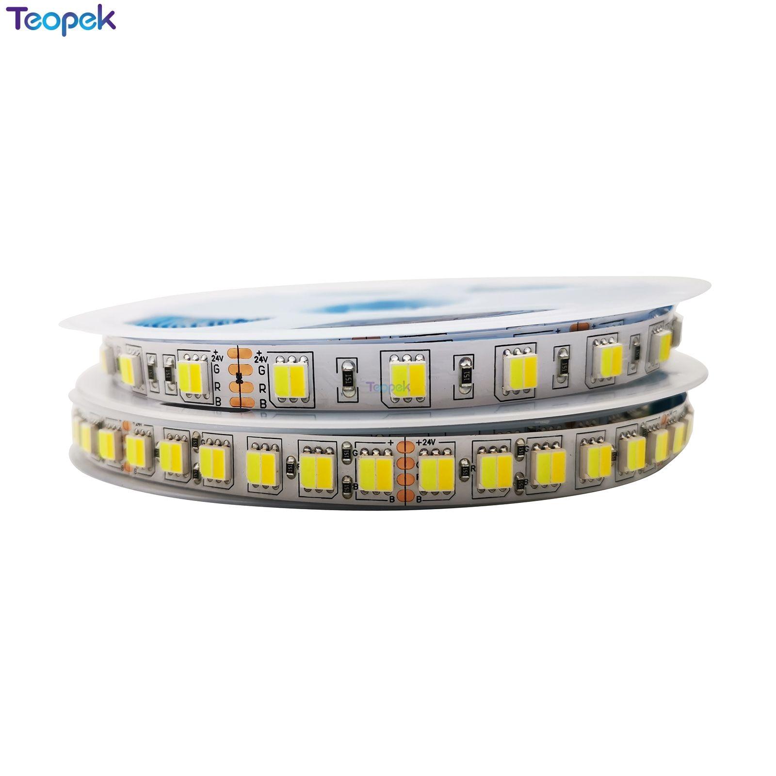 5050 5025 CCT LED Strip 60 Or 120 leds  m Dual White Warm White  amp  White 2 in 1 Chip Led Tape  Color Tem Ajustable DC12v 24V