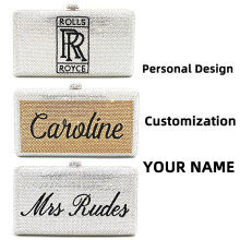 Специальный индивидуальный дизайн, дамские сумочки с персональным именем для свадебной вечеринки, вечерние сумочки с бриллиантами и кристаллами