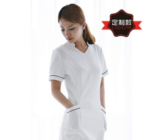 Korean version of fashion beauty hospital dress work clothes cosmetologist clothing white short-sleeve nurse custom