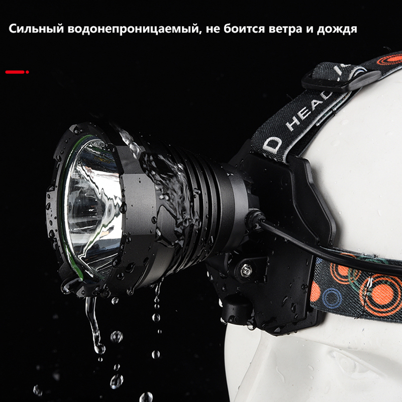 Headlight CREE XHP70 Super T40 T20 head lamp Camping Hunting fishing Construction work Rechargeable Bike Head Torch led