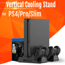 Dock Cooler-Charger Vertical-Stand Cooling-Fans Charging-Station Dual-Controller PS4