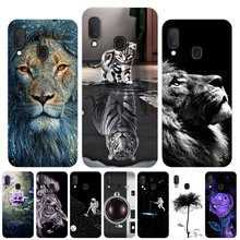 For Coque Samsung A20E Case Silicone Soft TPU Lion Print Phone Case Co