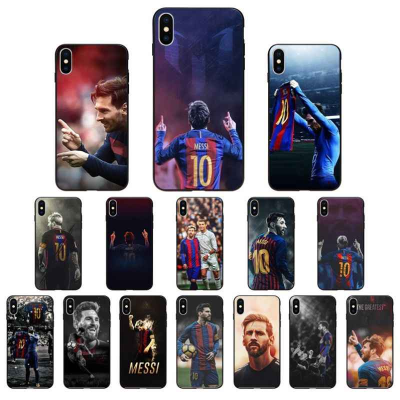 NBDRUICAI Lionel Messi Black High Quality Silicone Phone Case for iPhone 11 pro XS MAX 8 7 6 6S Plus X 5 5S SE XR case