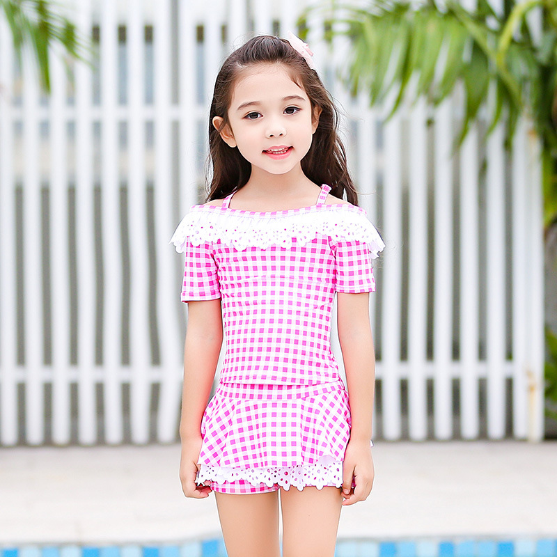 KID'S Swimwear GIRL'S Split Skirt-GIRL'S Swimsuit Female Baby Cute Small CHILDREN'S Princess South Korea INS Tour Bathing Suit