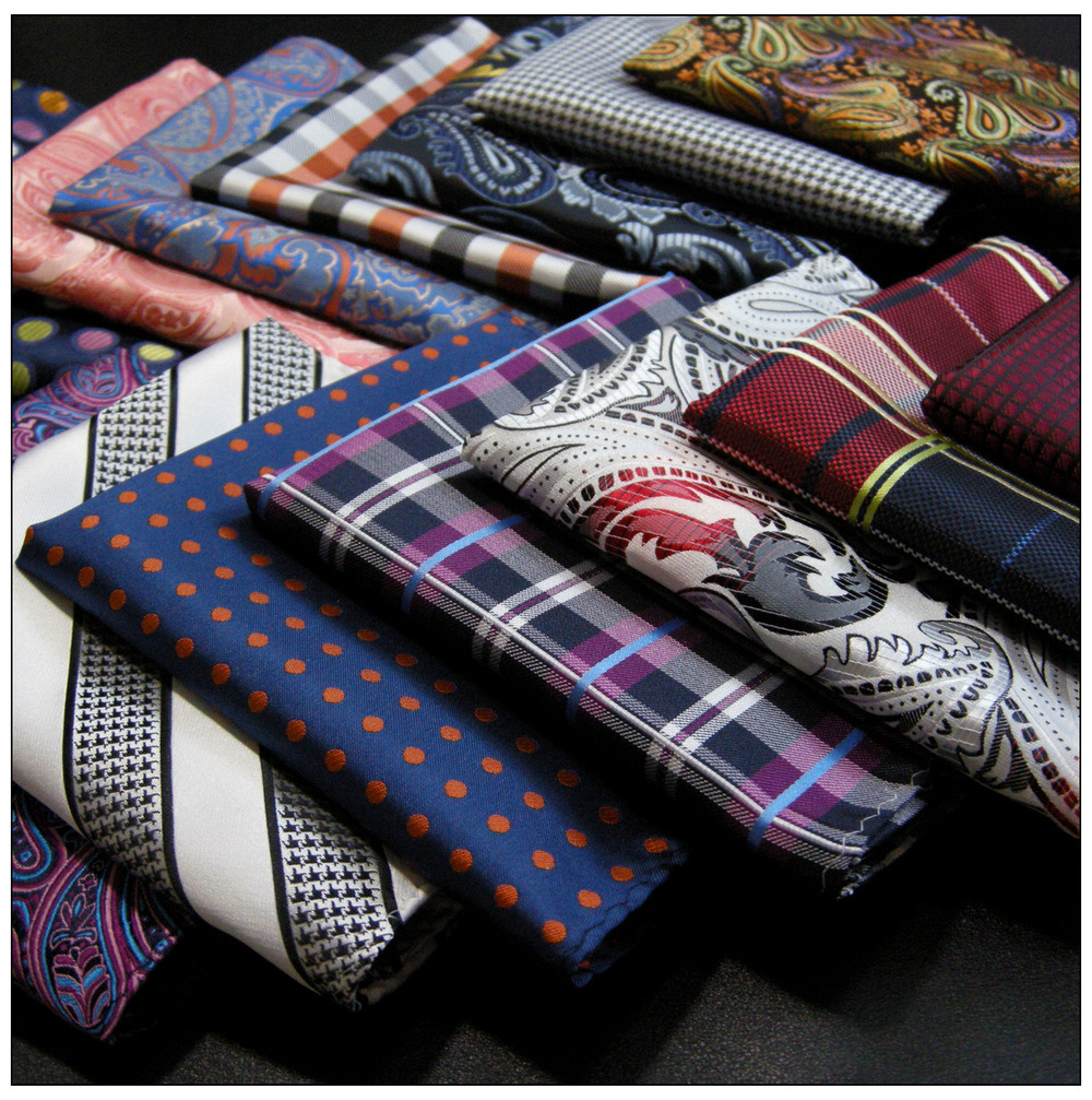 Paisley Pattern Colorful Silk Mens Pocket Square Fashion Party Handkerchief Classic Hanky