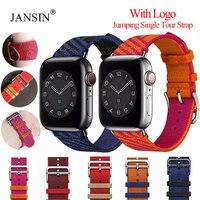 Correa de nailon trenzado para Apple Watch, Correa de una sola vuelta para Apple Watch de 38mm y 42mm, pulsera de 44mm y 40mm, iWatch SE 6 5 4
