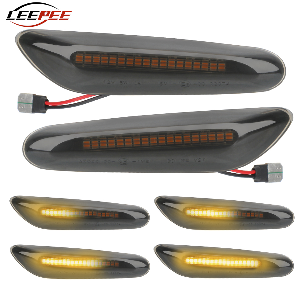 LEEPEE Car Dynamic LED Side Marker Light For BMW E90 E91 E92 E93 E60 E87 E82 E61 Signal Lamp Flowing Auto Indicator Accessories image