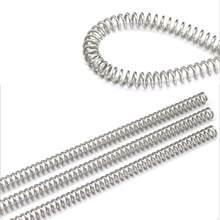 2Pcs305mm Mola de Compressão Molas de Pressão de Aço Inoxidável 304 Diâmetro do Fio 0.3-0.6mm Diâmetro Exterior 3-10 milímetros Comprimento 305 milímetros
