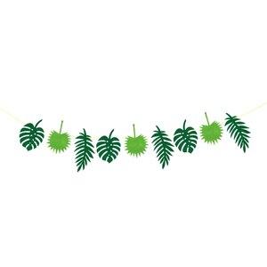 Гавайская тропическая войлочная баннер с листьями джунгли пляжная тема Декор