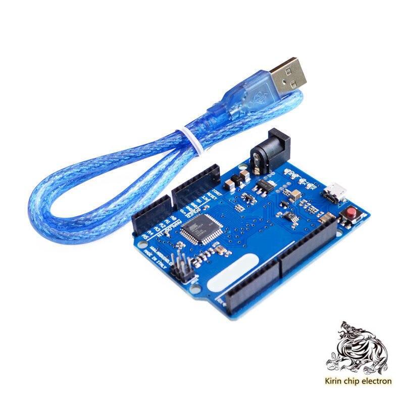 1PCS/LOT Leonardo R3 Development Board ATMEGA32U4 With Data Line Blue Board