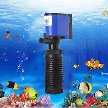 6W 1000L_H 220V Погружной внутренний фильтр для воды аквариумный насос для аквариума увеличение содержания кислорода