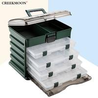 Portable Sea Fishing Bait Box Multi Layer Fish Lures Organizer Box Durable Lure Storage Case 5 Layers Plastic Case Organizer New