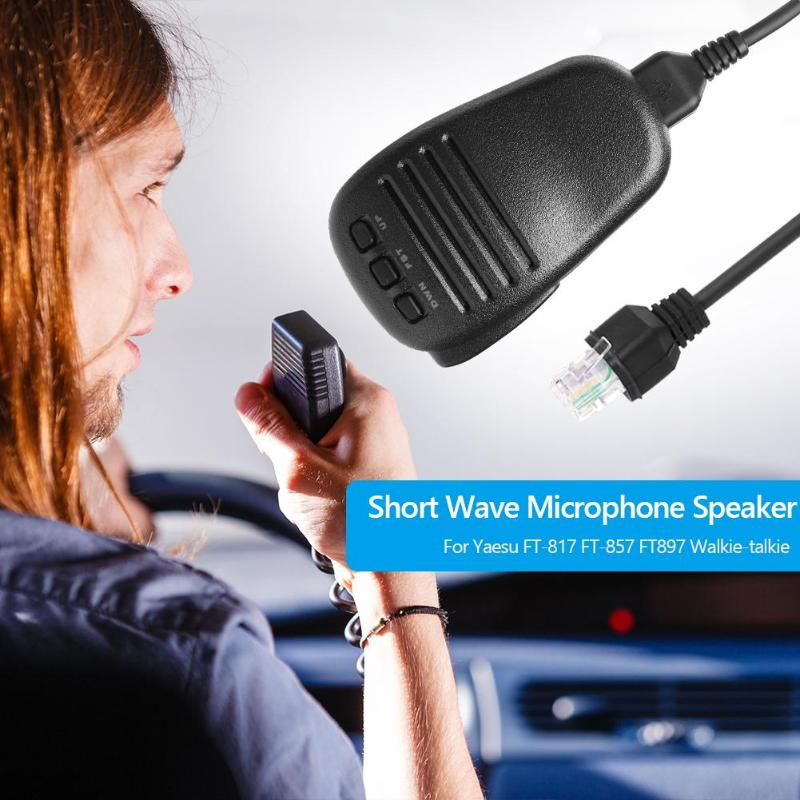 Image 2 - Hot Sale Short Wave Microphone Speaker Solid MH 31A8J Short Wave Microphone Speaker Mic for Yaesu FT 817 FT 857 FT897 RadioWalkie Talkie   -