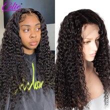 Perruque Lace Front Wig Deep Wave 13x6 – Celie, perruque Lace Front Wig, pre-plucked, Deep Wave, densité 150 180 200 250, pour femmes noires