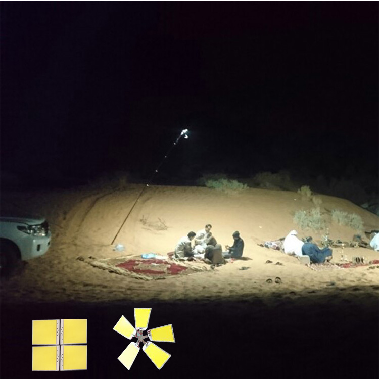 5x150 Вт COB удочка для кемпинга лампа телескопическая питается непосредственно от автомобиля для наружного дорожного путешествия Кемпинг лам