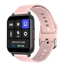 1.55 inç tam dokunmatik T82 akıllı saat erkekler kalp hızı kan basıncı spor izci akıllı saat kadınlar bilekliği PK P8 X6 y10 R7