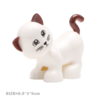 Big Size Building Blocks Cat Dog Pig Rabbit Model Accessories Compatible Duplo Farm Animals Assemble Education Toys For Kid Gift 2