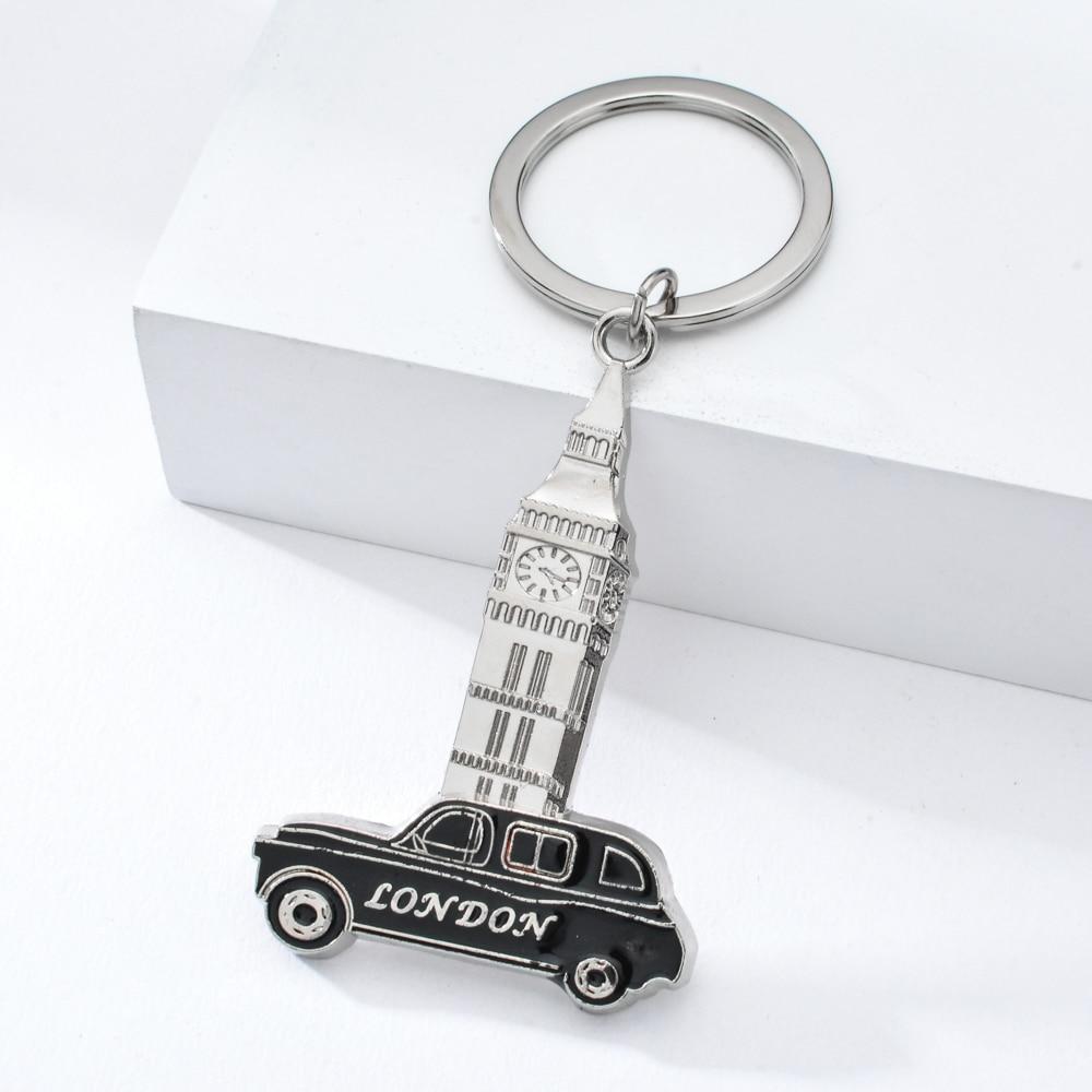 Vicney London Black Cabs Keychain Clock Tower Key Chain Men Car Women Bag Accessories Keyring For Key Llaveros Mujer Brelok