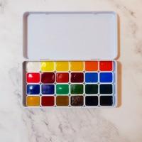 0.5 ml/1mlx24colors צבע בצבעי מים מוצק אריזה/אספקת אמנות/אמנות/צבעי מים/אמנות אספקת עבור אמן      -