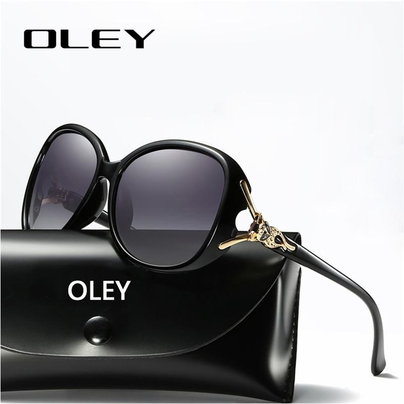 OLEY Retro Sunglasses Oculos-De-Sol Designer Women Polarized Luxury Brand Fox-Eyewear