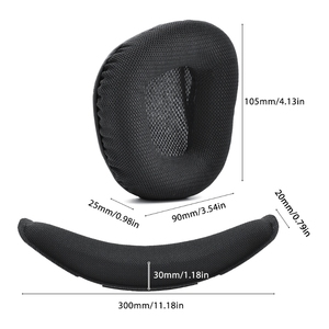 Image 3 - بطانة للأذن وسائد الأذن سماعة استبدال ل Corsair VOID برو سماعات للعب دروبشيب
