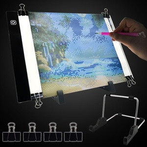 Diamond Painting A4 LED Light Pad with Stands 5d Diamond Art Accessories Light Board USB Powered Adjustable Brightness