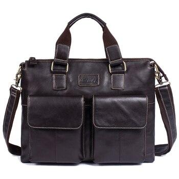 ABDB-OGRAFF Men's Bag Genuine Leather Messenger Bags Crossbody Shoulder Bag Laptops Business Handbags Tote Bag Design Male Brief
