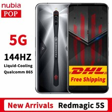 DHL Free Global Firmware Nubia Red Magic 5S Gaming Phone 6.65 inch 144Hz AMOLED Snapdragon 865 RedMagic 5S 64MP Rear Camera