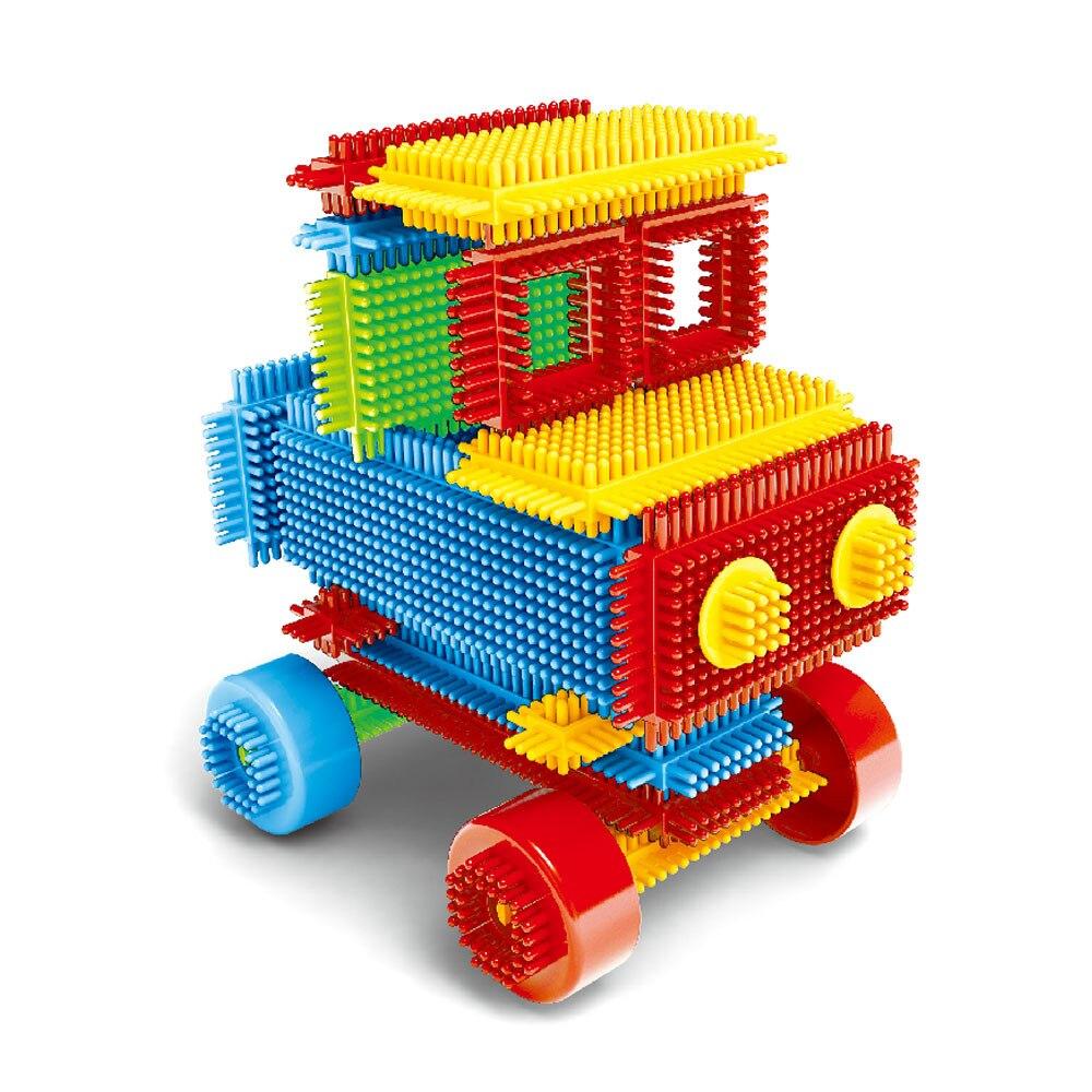 100pcs Bristle Shape 3d Building Blocks Tiles Construction Playboards Toys For Kids Gifts Building Bricks Figures For Bricks Toy