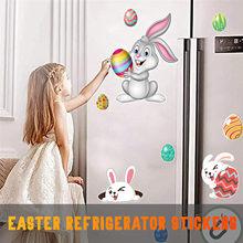 Novo 2021 adesivos coelho da páscoa eg g geladeira magnética etiqueta do feriado dos desenhos animados decoração novo estilo de etiqueta