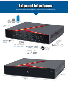 Hystou Gaming Mini PC Intel Core i9 i7-9750H i5-9300H GTX 1650 Game Computer Desktop Windows 10 4K HDMI DP pc gamer computadoras - DISCOUNT ITEM  34 OFF Computer & Office