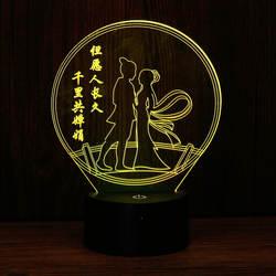Необычная новая 3D Ночная лампа, чувствительный цвет, меняющий цвет, светодиодный, креативный, подарки, маленькая настольная лампа