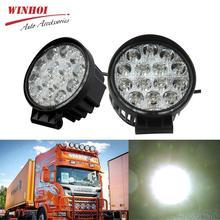 Led Work Light 12V 42W 55mm 4.3 Round Spot Offroad Light 4WD Work LED Light Bar for Car Truck Tractors SUV Boat Workinglight цена
