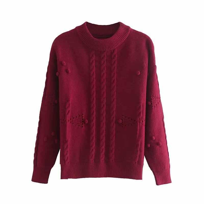 Новый модный SD68-9212 свитер в европейском и американском стиле с объемным воротником