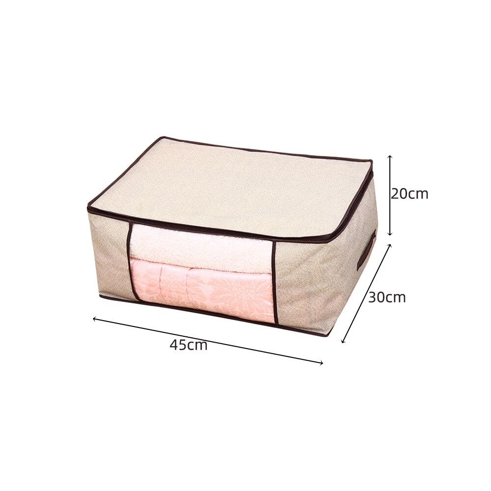 Складной тканевый ящик для хранения грязной одежды, чехол на молнии для игрушек, стеганая коробка для хранения, прозрачный влагостойкий Органайзер - Цвет: G226584B