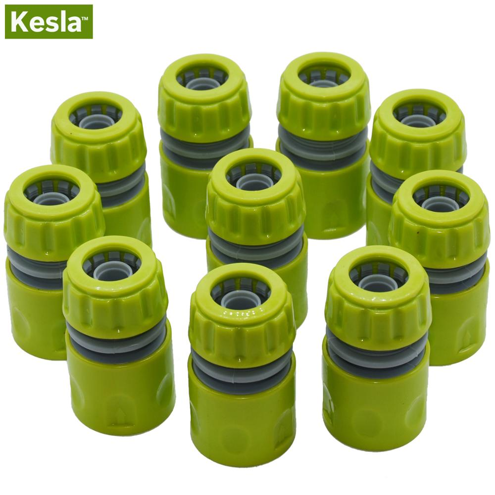 KESLA 10PCS Hose Garden Tap Water Hose Pipe 1/2 Inch Connector Quick Connect Adapter Fitting Repair Watering For Greenhouse