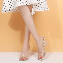Женские туфли на высоком каблуке 5 см пикантные сандалии летняя