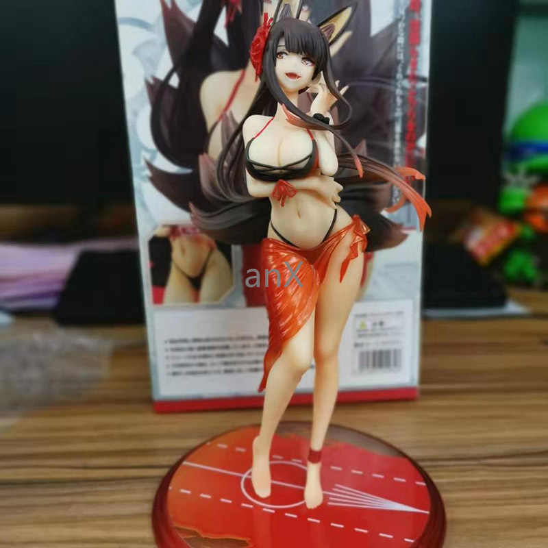 26 Cm Nieuwe Anime Game Azur Lane Akagi Sexy Meisjes Badpak Ver. Skytube Pvc Action Figure Collection Model Speelgoed Pop Dropshipping