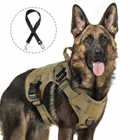 Tactical Dog Harness For Large Military Service Dog With Adjustable Handle Hunting Modular Cannie Molle K9 Dog Vest With Buckle