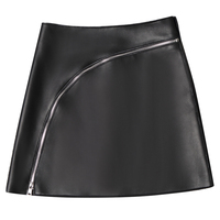 Genuine Leather skirts 2019 new autumn and winter Fashion casual plus size female women girls brand mimi skirts clothing
