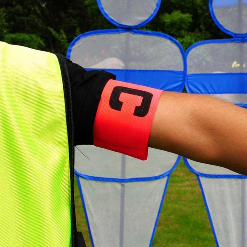 1Pcs Football Captain's Armband Professional Football Game Armband Elastic Stickers Winding C Word Mark Football Training